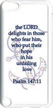 Multicolor Polka Dot Anchor Psalm 147:11 on iPod Touch 5th Gen 5G White ... - $9.46