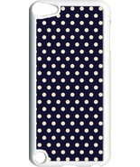 Navy and Pink Polka Dots Design on iPod Touch 5th Gen 5G White TPU Case ... - $9.46