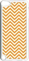 Orange Chevron Design on iPod Touch 5th Gen 5G White TPU Case Cover - $9.46