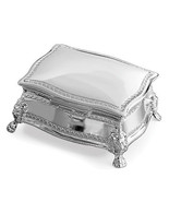 PERSONALIZE SILVER TONE FANCY VICTORIAN SHAPE ENGRAVABLE JEWELRY BOX - $35.95