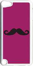 Plain Magenta Purple and Black Mustache on iPod Touch 5th Gen 5G TPU Cas... - $13.95