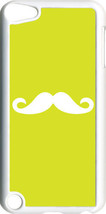 Plain Lime Green and White Mustache on iPod Touch 5th Gen 5G TPU Case Cover - $9.95