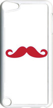 Plain White and Red Mustache on iPod Touch 5th Gen 5G TPU Case Cover - $9.95