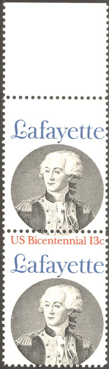 1716a, MNH RED COLOR MISSING ERROR - LAFAYETTE