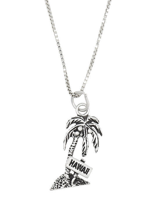 Sterling Silver 2 D Hawaii Palm Tree Pendant And 50 Similar Items