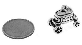 STERLING SILVER 3D CARRIAGE - STAGE COACH CHARM - $27.58+