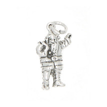 STERLING SILVER 3D SANTA CLAUS  CHARM OR PENDANT - $15.32