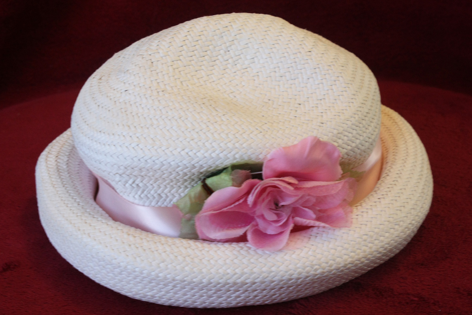 53c36ba594273 Girls White Straw Summer Sun Hat with Pink and 50 similar items. 1991a