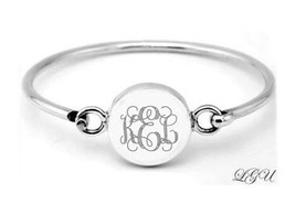 "STERLING SILVER CIRCLE ID BRACELET 6"" FREE ENGRAVE PERSONALIZATION - $41.10"