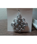 Byzantine style chain maille Greek Cross pendant - $7.00