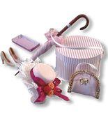 Dollhouse Ladies' Boutique Set Reutter 17587 Umbrella Hat Bx Prse Miniat... - $36.00