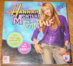 HANNAH MONTANA GIRL TALK GAME 2007 MILTON BRADLEY COMPLETE EXCELLENT - $12.00