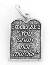 STERLING SILVER EXODUS 20:13 /TEN COMMANDMENTS CHARM / PENDANT - $9.99