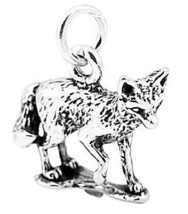 STERLING SILVER FOX WITH TAIL CURLED CHARM/PENDANT - $15.29