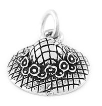 STERLING SILVER GARDENING HAT/SUMMER HAT CHARM/PENDANT - $13.80