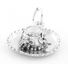STERLING SILVER GARDENING HAT CHARM/PENDANT - $10.82