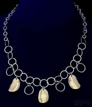 STERLING SILVER ITALIAN DESIGNER NECKLACE 16 INCHES - $80.37