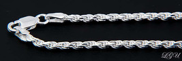 """STERLING SILVER ITALY DC ROPE CHAIN NECKLACE 24"""" 4mm - $65.42"""