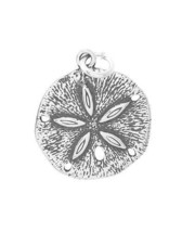STERLING SILVER LARGE SAND DOLLAR CHARM/PENDANT - $9.35