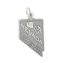 STERLING SILVER NEVADA STATE LAS VEGAS CHARM/PENDANT - $10.46