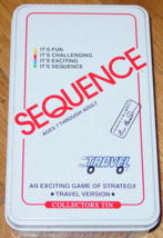 Sequence Strategy Travel Version Game 1994 Jax #8105 Nib New Unused Complete  - $20.00