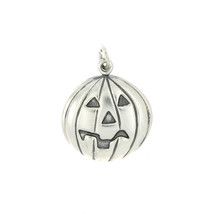 STERLING SILVER PUFF STYLE JACK O LANTERN CHARM OR PENDANT - $10.09