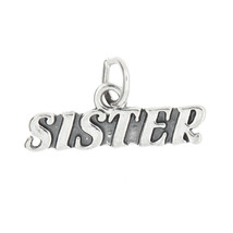 STERLING SILVER SISTER CHARM PENDANT - $9.35