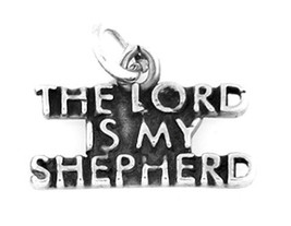 STERLING SILVER THE LORD IS MY SHEPHERD CHARM OR PENDANT - $7.69