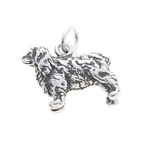 STERLING SILVER THREE DIMENSIONAL COCKER SPANIEL DOG CHARM/PENDANT - $16.86
