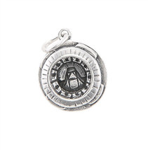 STERLING SILVER THREE RIVERS STADIUM PITTSBURGH PENNSYLVANIA CHARM PENDANT - $28.36