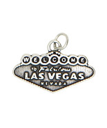 STERLING SILVER WELCOME TO LAS VEGAS NEVADA CHARM/PENDANT - $15.32