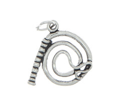 STERLING SILVER WESTERN WHIP CHARM PENDANT - $9.35