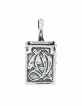 Sterling Silver Antique Filigree Design Prayer Box Charm Pendant - $22.99