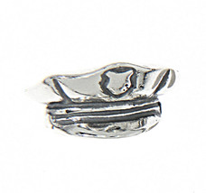 Sterling Silver Policeman's Hat Charm Pendant - $11.20