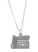 Sterling Silver State of Oregon Charm with Box Chain Necklace - $18.92+