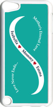 Teal Green & White Mother's Love Two Navy Names on iPod Touch 5th Gen 5G... - $11.95