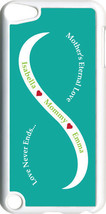 Teal Green & White Mother's Love Two Green Names on iPod Touch 5th Gen 5... - $11.95