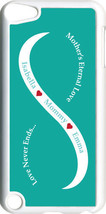 Teal Green & White Mother's Love Two Blue Names on iPod Touch 5th Gen 5G... - $11.95