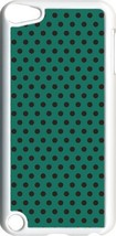 Teal Green and Brown Polka Dots on iPod Touch 5th Gen 5G White TPU Case ... - $9.46