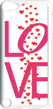 Valentine's Love Text with Raining Hearts iPod Touch 5th Gen 5G White TP... - $9.46