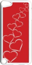 Valentine's Graduating White Hearts iPod Touch 5th Gen 5G White TPU Case... - $9.46