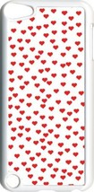 Valentine's Small Red Hearts Collage iPod Touch 5th Gen 5G White TPU Cas... - $9.46