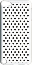 White and Brown Polka Dots on iPod Touch 5th Gen 5G White TPU Case Cover - $9.46