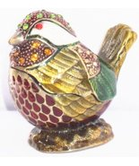 Welforth Fine Pewter Amber Colored Bird Jewelry Trinket Small Box - $28.71