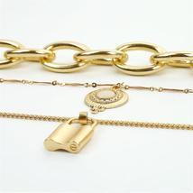 Fashion AllMatch Jewelry Chain Lock Pendants Layered Chain Choker Necklace image 3