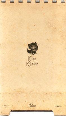 1969 Gibson Kitten Kalendar (Plastic Comb Bound)