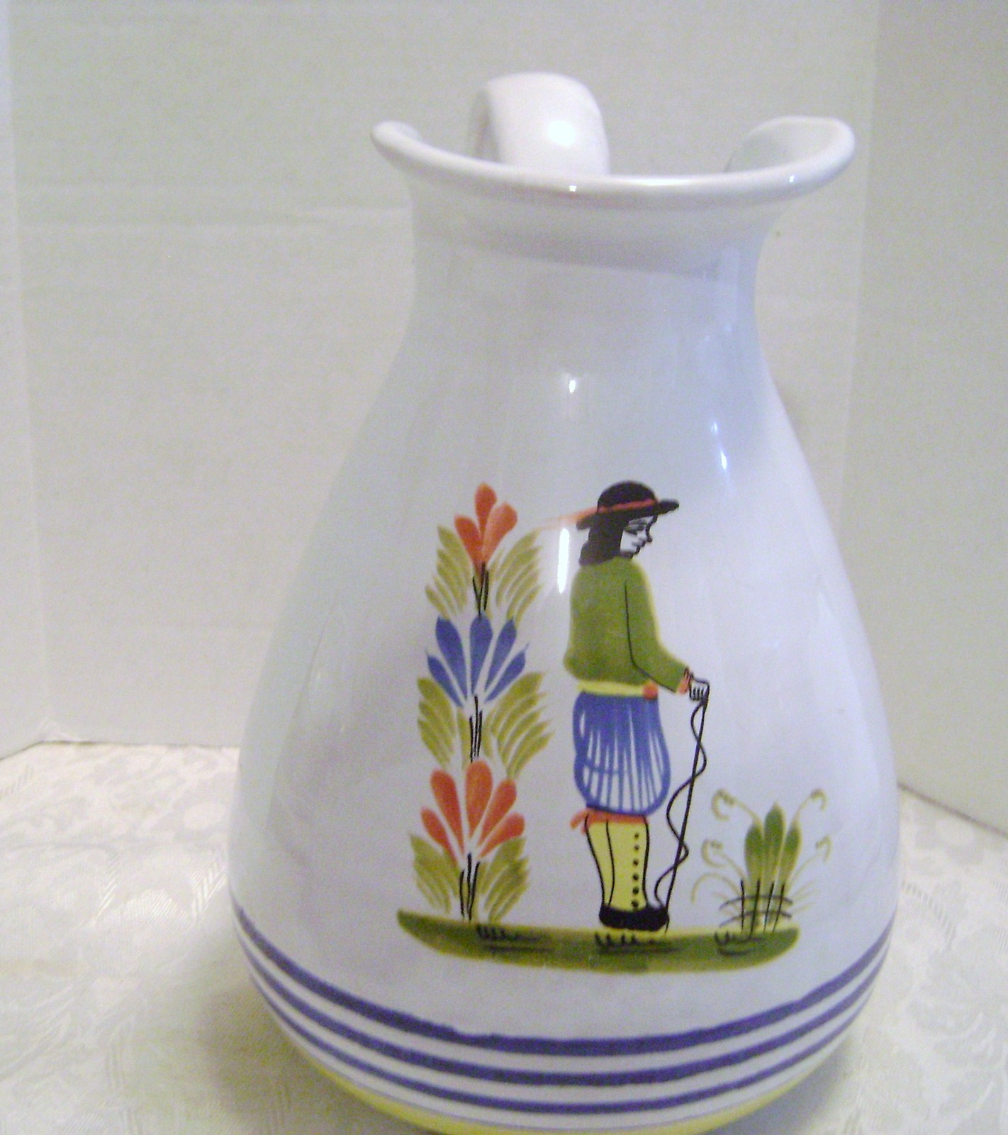 Primary image for Wide Mouth Ceramic Italian Pitcher with vintage Design