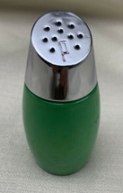 Gemco Westinghouse Vtg Solid Green Pepper Shaker with Silver Chrome-look Lid - $12.30