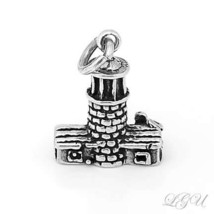 NEW STERLING SILVER 925 LIGHTHOUSE 3D CHARM/PENDANT image 2