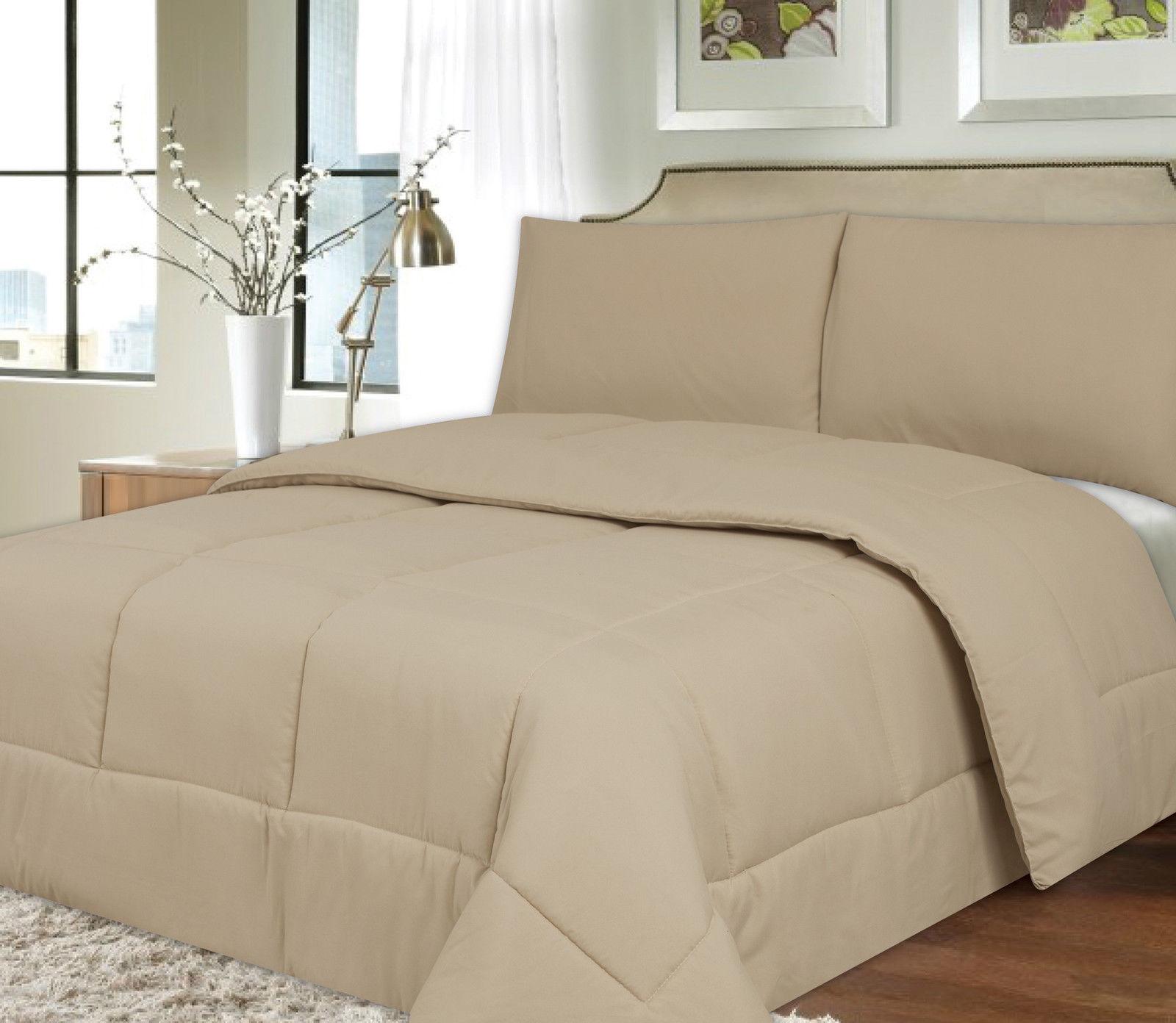 Down Alternative Polyester Comforter Box Stitch Microfiber